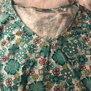 Mixed Floral Print Short Sleeve Tunic From